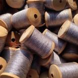 bobbin of aluminium thread metal vintage haberdashery stock