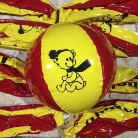 polaroil ballon publicitaire pub plastique plage ancien vintage garage station service 1970