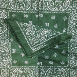 fujicolor vert bandana tissu textile ancien vintage magasin photo 1990