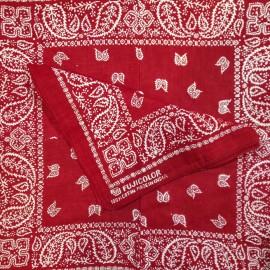 fujicolor rouge bandana tissu textile ancien vintage magasin photo 1990