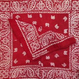 fujicolor rouge bandana tissu textile ancien vintage magasin photo 1990