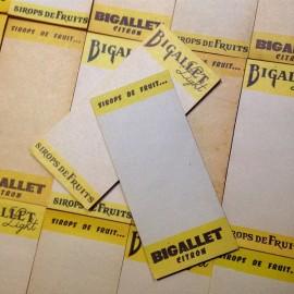 bloc-notes bloc note publicitaire sirop bigallet français vintage carnet 1950 1960