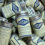 boite ureosantal pharmacie ancienne 1940 vintage ronde aluminium