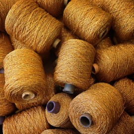 bobbin of gold thread pearl cotton vintage wire knitting antique haberdashery