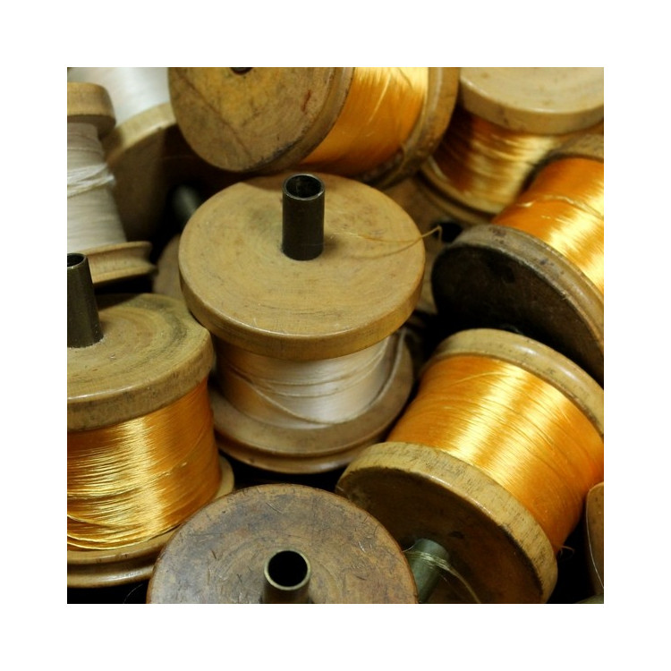 bobine ancienne en bois vintage 1930 mercerie filature