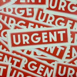 urgent little label antique vintage paper printing factory 1950