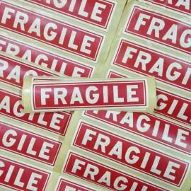 fragile sticker printing factory paper antique vintage 1950