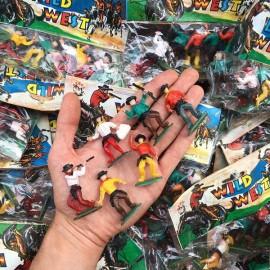 sachet cowboy cow-boys wild west jouet 1980 plastique blister vintage macau