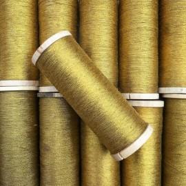 bobbin vintage knitting haberdashery stock gold thread golden metallic metal military