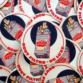 cigarettes nationales french tobacco coaster vintage beer 1950 1960