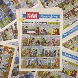 bd bande dessinée frères miliat ancien papier vintage épicerie 1960