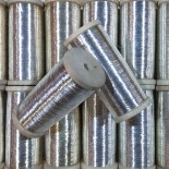bobine fil métallique mercerie militaire bain argent ancien vintage 1920