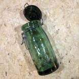 bocal lorraine verre ancien vintage dessin fermoir foncée verrerie 1950