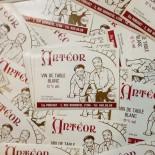 étiquette vin antéor papier ancien vintage imprimerie 1960 bar bistrot