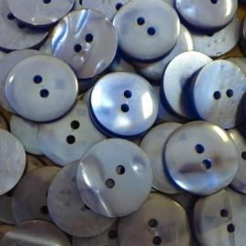 haberdashery button antique vintage plastic 18mm dark blue 1960