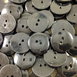 bouton fantaisie plastique noir ancien vintage 18mm mercerie 1960