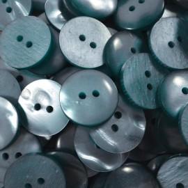 haberdashery button antique vintage plastic 18mm blue sky 1960