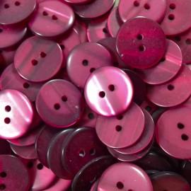 haberdashery button antique vintage plastic 18mm violet bright 1960