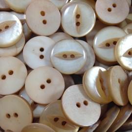 haberdashery button antique vintage plastic 18mm eye cream button 1960