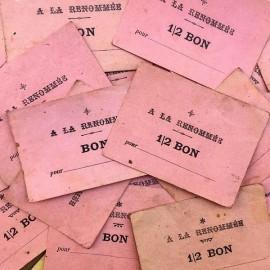 bon ancien papier rose a la renommée magasin 1940