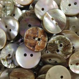 bouton ancien vintage mercerie nacre 18mm fantaisie