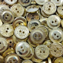 button haberdashery antique vintage golden blazon 1960 10mm