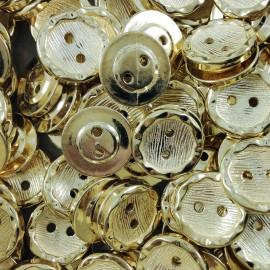 bouton plastique ancien vintage doré mercerie plastique 9mm 1960