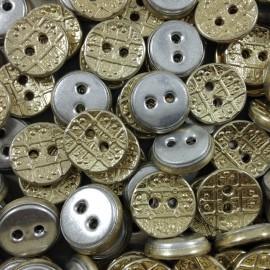 button haberdashery antique vintage golden 1960 9mm