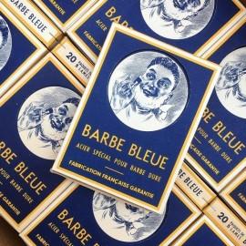 boite barbe bleue ancienne présentation barbier coiffeur vintage 1930 1940