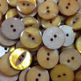 button haberdashery antique vintage orange eye 18mm