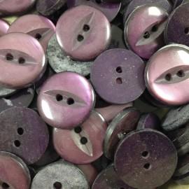 button haberdashery antique vintage purple eye 18mm