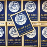 blue beard box rasor razor razorblade boxes display vintage 1930 1940