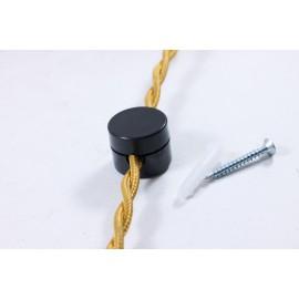 passage cable noir droit ancien vintage quincaillerie électricité direction support