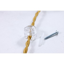 passage cable transparent droit ancien vintage quincaillerie électricité direction support