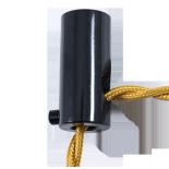 passage cable noir angle droit ancien vintage quincaillerie électricité direction support