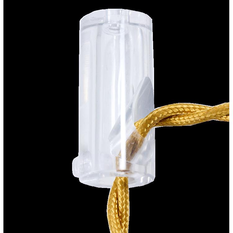 passage cable transparent angle droit ancien vintage quincaillerie électricité direction support