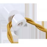 passage cable blanc v ancien vintage quincaillerie électricité direction support