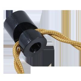 passage cable noir v ancien vintage quincaillerie électricité direction support