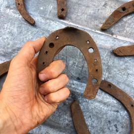 vintage horseshoe little stock antique metal decoration 1920