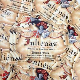 Juliénas vin alcool étiquette bistrot bar imprimerie 1970