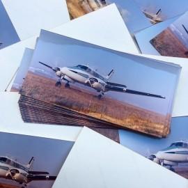 vintage analog print photograph of airplane 1970 1980 kodak