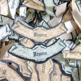 lot étiquette vin ancien vintage papier 3 col bouteille imprimerie 1970