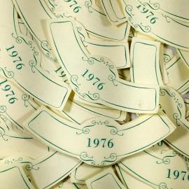 lot étiquette vin ancien vintage papier 3 col bouteille imprimerie 1976