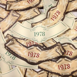 lot étiquette vin ancien vintage papier 3 col bouteille imprimerie 1978
