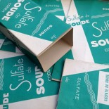 boite de pharmacie ancienne sulfate de soude vert vintage 1940 jura