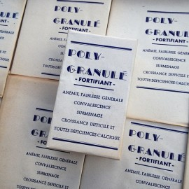 old pharmacy box vintage poly granule pill tired white medicine doctor 1930 1940