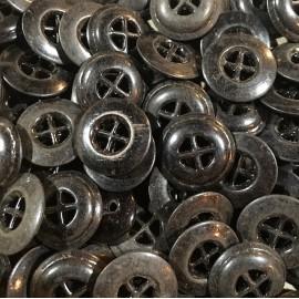 bouton ancien métallique 17mm métal pantalon culotte vintage 1920 1930 militaire