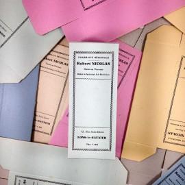 colored box antique vintage paper cardboard robert nicolas pharmacy  1940