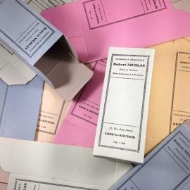boite colorée multicolore longue carton pharmacie médicament santé ancien vintage robert nicolas 1940
