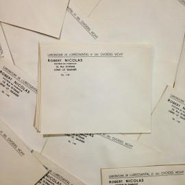 enveloppe uréosantal vichy ovoïdes ancien vintage pharmacie 1940 papier